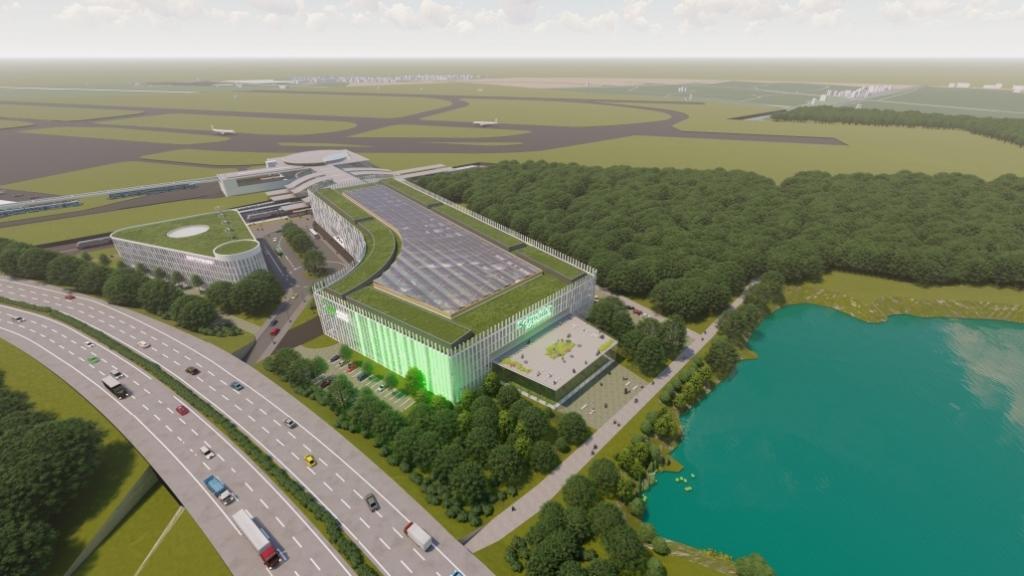 Visualisierung geplanter Innovationscampus in der Nähe des Düsseldorfer Flughafens