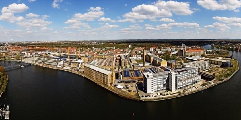 Luftbildaufnahme Panorama Schöneweide