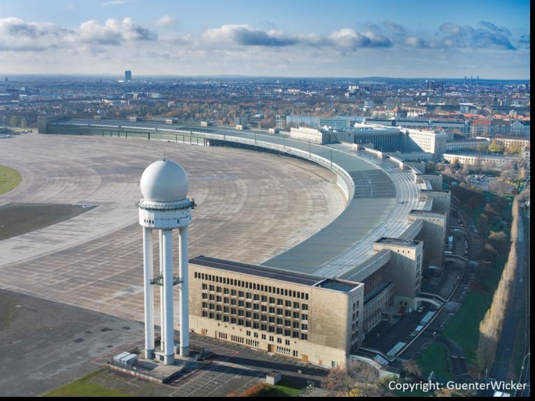 Flughafen Tempelhof Luftaufnahme