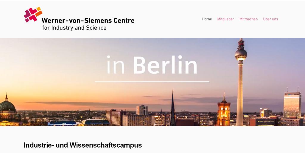 Webseite Werner-von-Siemens-Centre